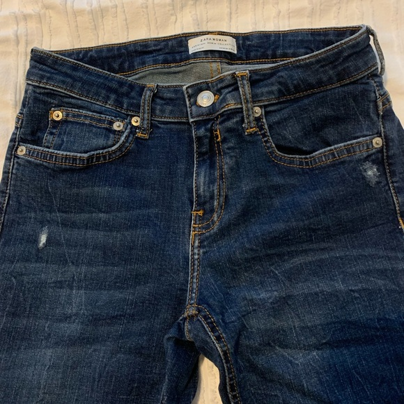 Zara Woman dark wash jeans
